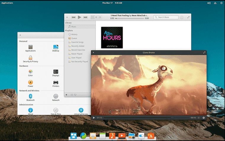 elementaryOS display