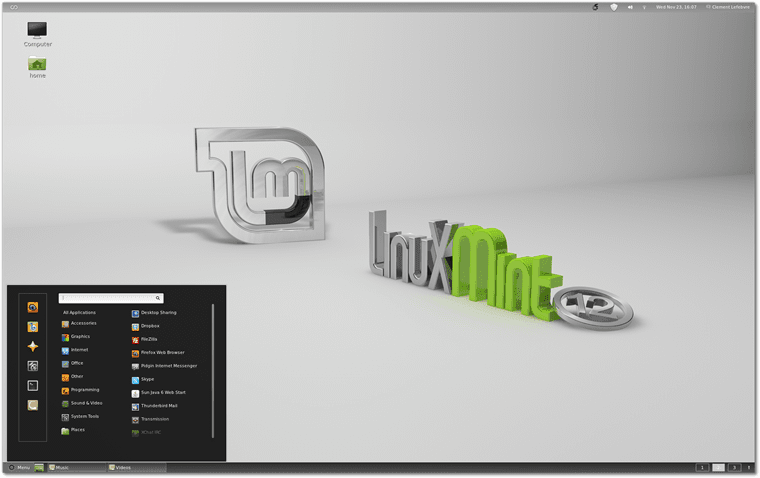 linux mint display
