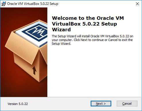 VirtualBoxのセットアップ画面