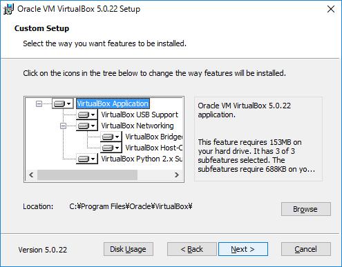 VirtualBox セットアップ2