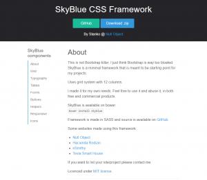 SkyBlue CSS