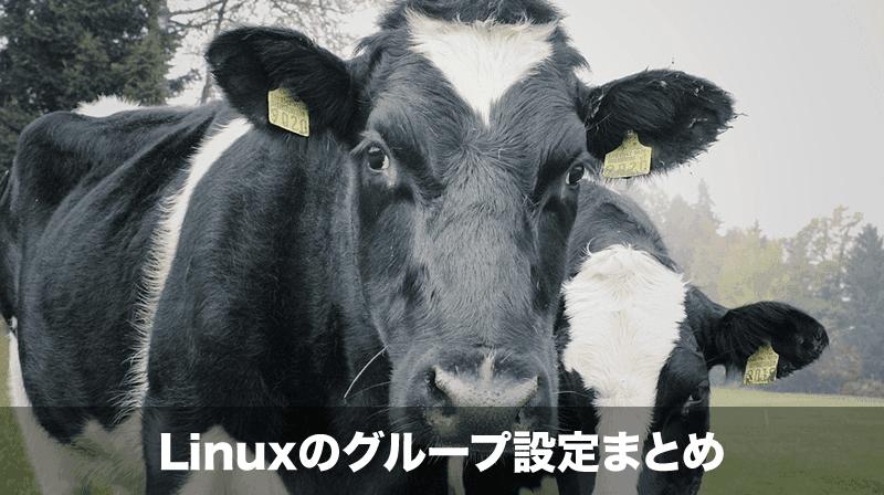 linuxグループ設定