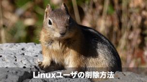 linuxユーザの削除方法