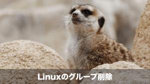 linuxのグループ削除