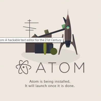 atomのインストール
