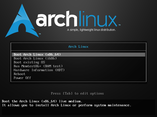 arch boot
