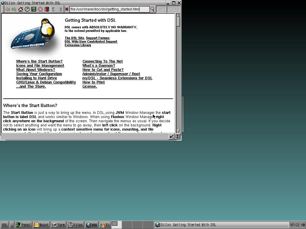 dsl desktop