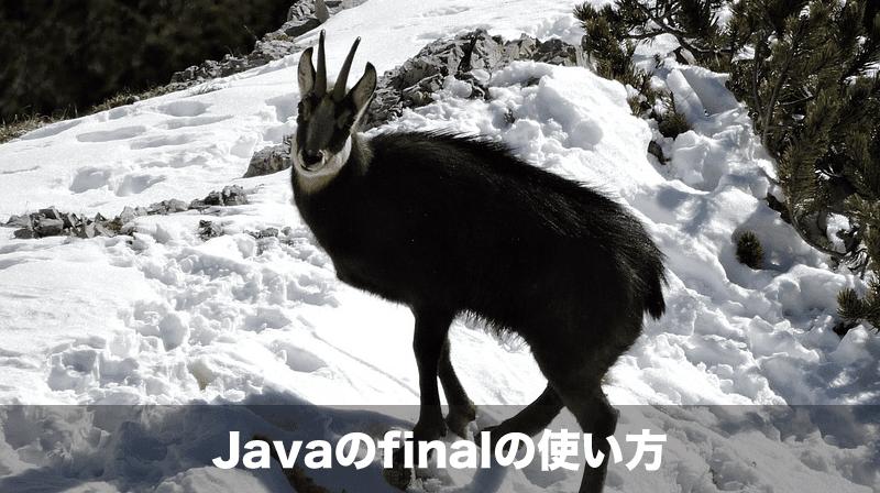 javaのfinalの使い方