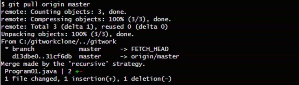 Gitのpullコマンド