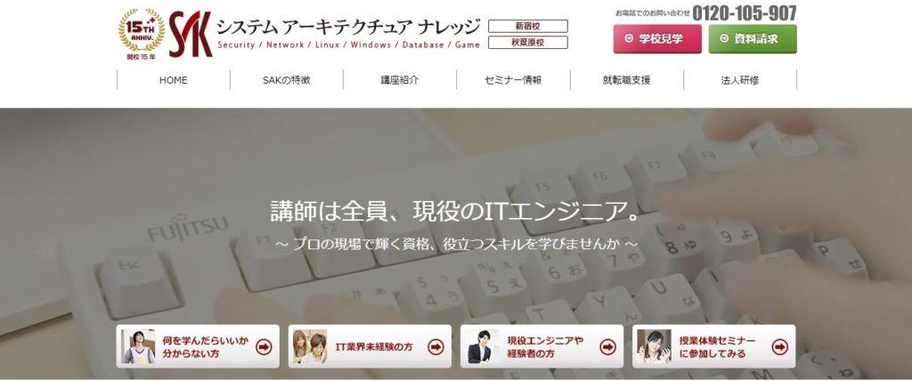 システムアーキテクチュア ナレッジのホームページ画像